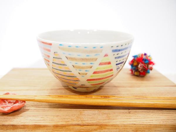画像1: パッチワーク ごはん茶碗1 【nicorico】 (1)