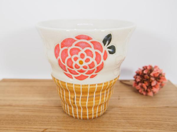 画像1: 紋花彩泥 naminami cup(赤) 【nicorico】 (1)