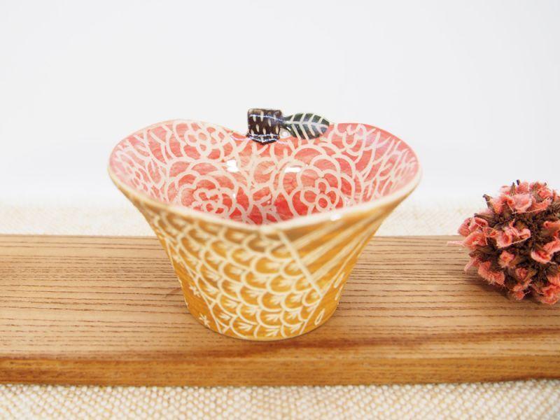 画像1: りんご豆鉢 1 【nicorico】 (1)