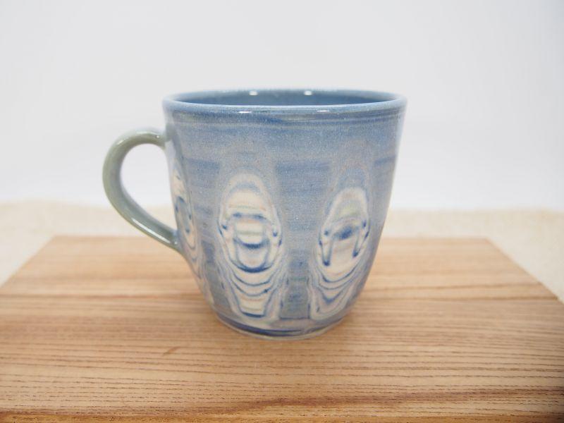 画像1: 練上マーブル マグカップ(青)4【甲和焼 芝窯】 (1)