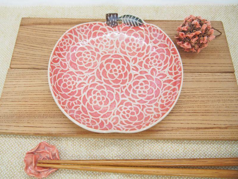 画像1: 赤りんご取皿 【nicorico】 (1)