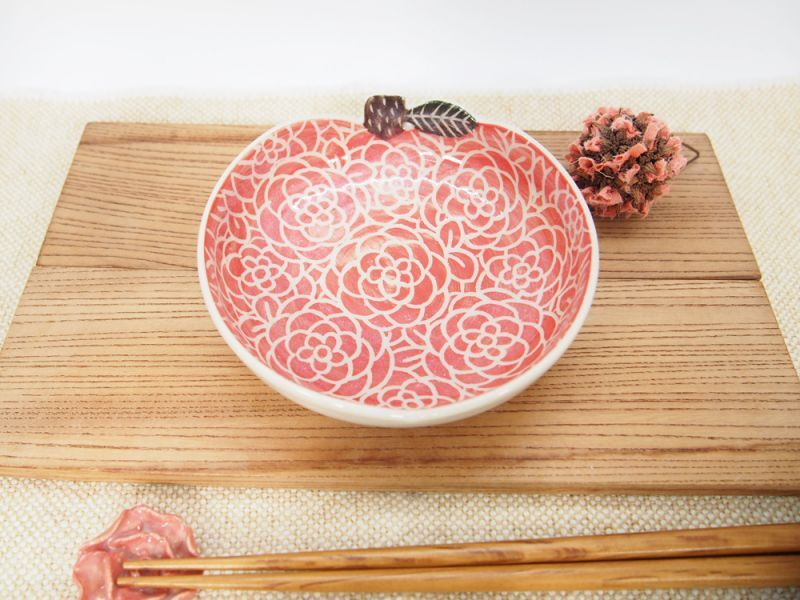 画像1: 赤りんご平鉢 【nicorico】 (1)
