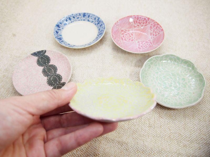 画像1: 【おうち時間セット5-3】豆皿アソート 5枚セット-3 【nicorico】 (1)