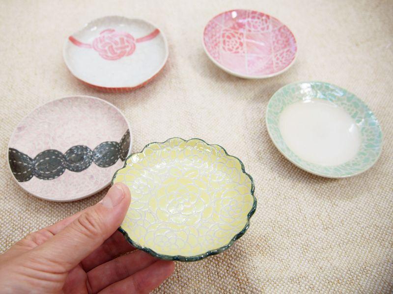 画像1: 【おうち時間セット5-2】豆皿アソート 5枚セット-2 【nicorico】 (1)