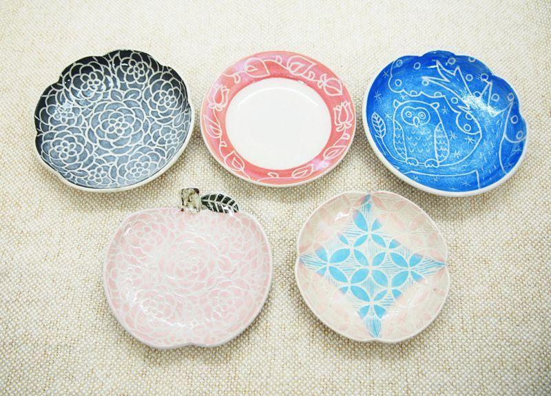 画像1: 【おうち時間セット5-11】豆皿アソート 5枚セット-11 【nicorico】 (1)