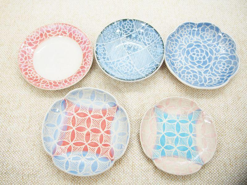 画像1: 【おうち時間セット5-10】豆皿アソート 5枚セット-10 【nicorico】 (1)