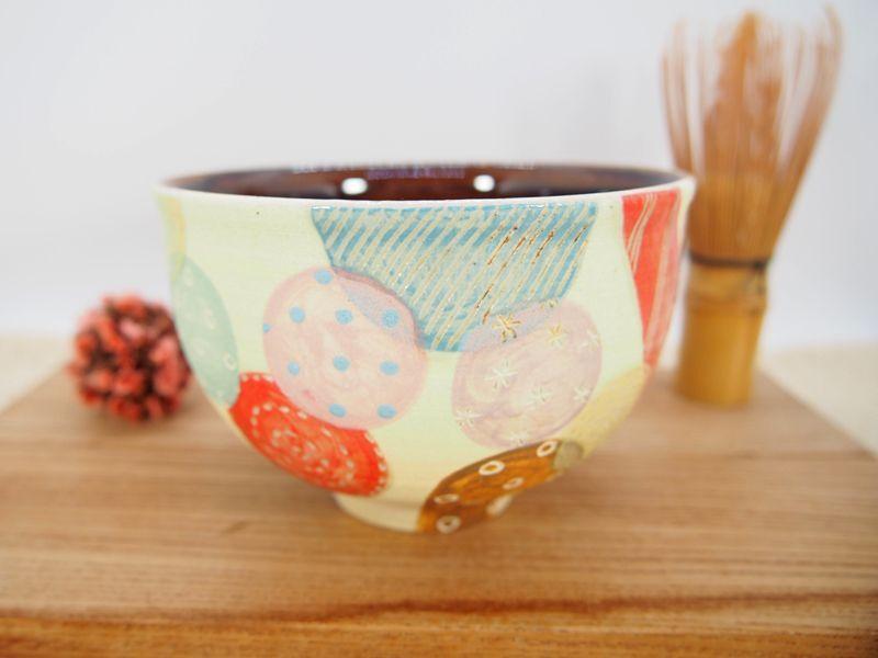 画像1: ポップキャンディー 抹茶茶碗 【nicorico】 (1)