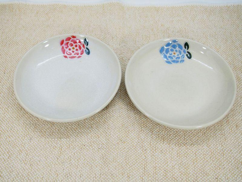 画像1: 【おうち時間セット5-22】紋花彩泥 取皿2枚セット 【nicorico】 (1)